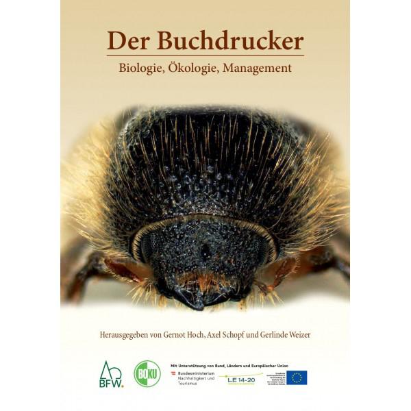 """Titelseite des Buches """"Der Buchdrucker"""", Kopf des Insekts sichtbar"""