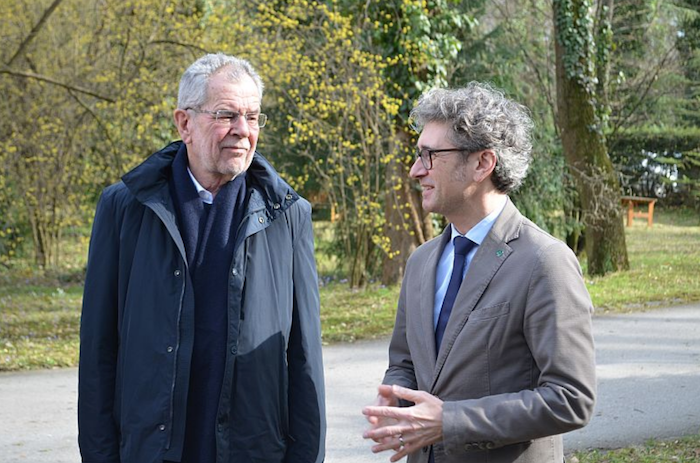 Bundespräsident Alexander Van der Bellen mit BFW-Leiter Peter Mayer