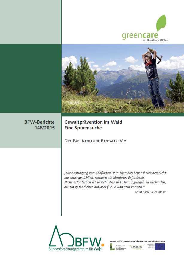 Bildungsunterlage Gewaltprävention im Wald