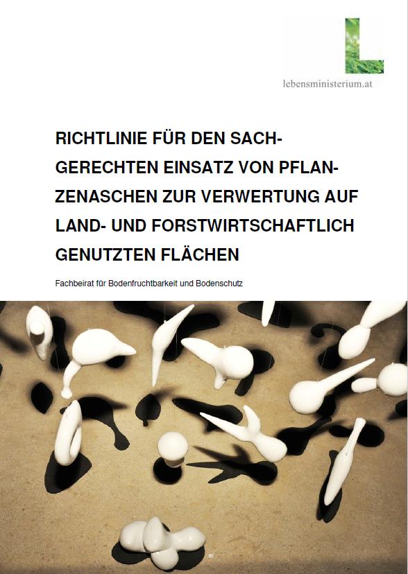 Titelseite der Broschüre Pflanzenasche