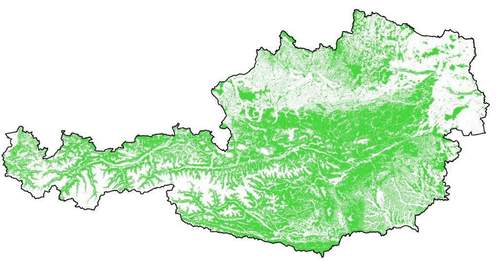 Abbildung 1: Waldkarte Österreich, Stand Juni 2020